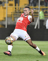 BOGOTÁ -COLOMBIA, 03-09-2016. Anderson Plata jugador de Santa Fe en acción durante partido entre Independiente Santa Fe y La Equidad por la fecha 7 de la Liga Aguila II 2016 jugado en el estadio Metropolitano de Techo de la ciudad de Bogota.  / Anderson Plata player of Santa Fe in action during match between Independiente Santa Fe and La Equidad for the date 7 of the Liga Aguila II 2016 played at the Metropolitano de Techo Stadium in Bogota city. Photo: VizzorImage/ Gabriel Aponte / Staff
