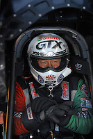 Jan 21, 2007; Las Vegas, NV, USA; NHRA Funny Car driver John Force during preseason testing at The Strip at Las Vegas Motor Speedway in Las Vegas, NV. Mandatory Credit: Mark J. Rebilas