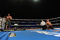 Mark Hepper stops Lewis Taylor in the 7th round during a Boxing Show at the Metro Radio Arena on 11th November 2017