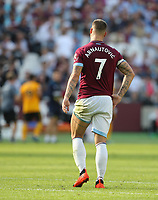 West Ham United's Marko Arnautovic <br /> <br /> Photographer Rob Newell/CameraSport<br /> <br /> The Premier League - West Ham United v Wolverhampton Wanderers - Saturday 1st September 2018 - London Stadium - London<br /> <br /> World Copyright © 2019 CameraSport. All rights reserved. 43 Linden Ave. Countesthorpe. Leicester. England. LE8 5PG - Tel: +44 (0) 116 277 4147 - admin@camerasport.com - www.camerasport.com