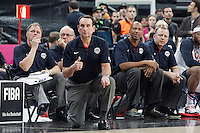 USA's coach Mike Krzyzewski during 2014 FIBA Basketball World Cup Round of 16 match.September 6,2014.(ALTERPHOTOS/Acero)