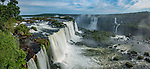 Iguazu Falls National Park in Brazil in the foreground and Argentina behind.  A UNESCO World Heritage Site.  Pictured is the Santa Maria Waterfall in front and Salto Mitre and the Belgrano Waterfall across the river.