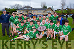 Milltown/Castlemaine team celebrate after defeating  Laune Rangers in the Mid Kerry minor final in Beaufort on Sunday