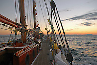 "- campaign ""Green Schooner"" for pollution monitoring in Italian seas waters, organized by enviromentalist association ""Legambiente""; on board of schooner ""Catholica"" (year of construction 1936) in navigation in the northern Adriatic sea....- campagna ""Goletta Verde"" per monitorare l'inquinamento delle acque nei mari organizzata dall'associazione ambientalista italiana ""Legambiente""; a bordo della goletta ""Catholica"" (anno di costruzione 1936) in navigazione nel mare Adriatico settentrionale.."