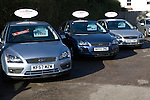 Second hand used cars for sale on garage forecourt
