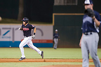 AZL Indians third baseman Henry Pujols (28) jogs around the bases after hitting his eighth home run of the season against the AZL Padres on August 30, 2017 at Goodyear Ball Park in Goodyear, Arizona. AZL Padres defeated the AZL Indians 7-6. (Zachary Lucy/Four Seam Images)