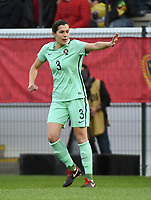 20180406 - LEUVEN , BELGIUM : Portugese Raquel Infante  pictured during the female soccer game between the Belgian Red Flames and Portugal , the fourth game in the qualificaton for the World Championship qualification round in group 6 for France 2019, Friday 6 th April 2018 at OHL Stadion Den Dreef in Leuven , Belgium. PHOTO SPORTPIX.BE   DIRK VUYLSTEKE