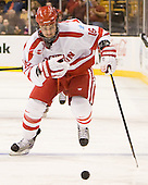 Kevin Gilroy (BU - 16) - The Boston University Terriers defeated the Harvard University Crimson 3-1 in the opening round of the 2012 Beanpot on Monday, February 6, 2012, at TD Garden in Boston, Massachusetts.