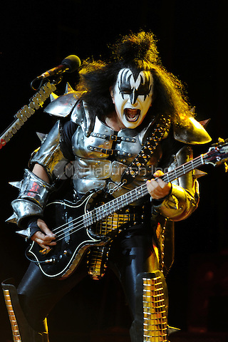 HOLLYWOOD FL - MARCH 17 :  Gene Simmons of KISS performs at Bank Atlantic on March 17, 2011 in Hollywood, Florida. © mpi04/MediaPunch Inc..