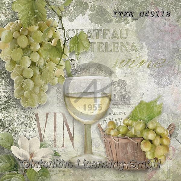 Isabella, STILL LIFE STILLEBEN, NATURALEZA MORTA, paintings+++++,ITKE049118,#i#, EVERYDAY,wine,grapes,chateau