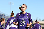 DURHAM, NC - FEBRUARY 18: Northwestern's Carson Copeland. The Duke University Blue Devils hosted the Northwestern University Wildcats on February 18, 2018, at Koskinen Stadium in Durham, NC in women's college lacrosse match. Duke won the game 9-8.