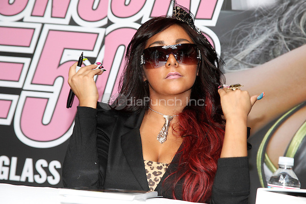 "Snooki pictured at the first stop on the Snooki Sunglass Mall Tour at the Staten Island Mall in Staten Island, NY for her ""Snooki by Nicole Polizzi"" line of sunglasses and sunglass related accessories on October 22, 2011  © Star Shooter / MediaPunchInc"
