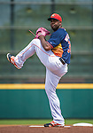 12 March 2014: Houston Astros pitcher Jerome Williams on the mound during a Spring Training game against the Washington Nationals at Osceola County Stadium in Kissimmee, Florida. The Astros rallied in the bottom of the 9th to edge out the Nationals 10-9 in Grapefruit League play. Mandatory Credit: Ed Wolfstein Photo *** RAW (NEF) Image File Available ***