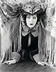 A DOLL'S HOUSE, Alla Nazimova, in a 'cat hat' designed by Natasha Rambova, 1922
