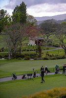 Ryan Chisnall tees off at the first. 2017 Asia-Pacific Amateur Championship Media and Partner Golf Day at Royal Wellington Golf Club in Wellington, New Zealand on Monday, 16 October 2017. Photo: Dave Lintott / lintottphoto.co.nz