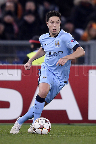 10.12.2014. Rome, Italy. UEFA Champions League Group E match between AS Roma 0-2 Manchester City at Stadio Olimpico in Rome Samir Nasri