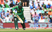 June 18th 2017, The Kia Oval, London, England;  ICC Champions Trophy Cricket Final; India versus Pakistan; Fakhar Zaman of Pakistan plays the ball for a single