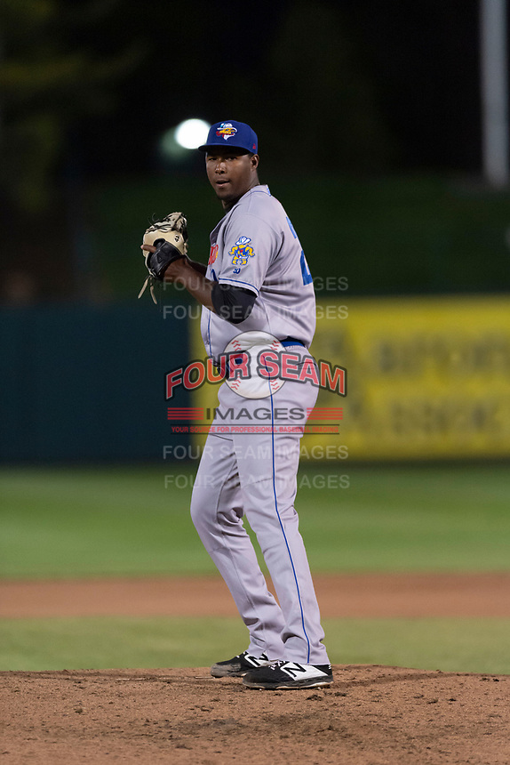 Amarillo Sod Poodles relief pitcher Dauris Valdez (22) during a Texas League game against the Springfield Cardinals on April 25, 2019 at Hammons Field in Springfield, Missouri. Springfield defeated Amarillo 8-0. (Zachary Lucy/Four Seam Images)