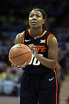 19 November 2014: Oklahoma State's Roshunda Johnson. The University of North Carolina Tar Heels hosted the Oklahoma State University Cowgirls at Carmichael Arena in Chapel Hill, North Carolina in a 2014-15 NCAA Division I Women's Basketball game. UNC won the game 79-77.