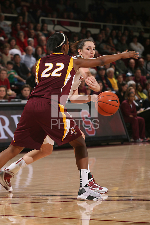 STANFORD, CA - JANUARY 28:  Ashley Cimino of the Stanford Cardinal during Stanford's 71-48 win over ASU on January 28, 2010 at Maples Pavilion in Stanford, California.