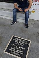 TURKEY Istanbul, editing office of armenian turkish weekly bilingual newspaper Agos, a armenian word which means furrow, Agos was founded by editor Hrant Dink in 1996 who was murdered 2007 in front of the building / TUERKEI Istanbul, Redaktionsbuero der armenisch tuerkischen Wochenzeitung Agos, was in armenisch Furche bedeutet, sie wurde 1996 u.a. von Hrant Dink gegruendet, Hrant Dink fiel 2007 vor dem Buerohaus einem Attentat zum Opfer - MORE IMAGES AVAILABLE!