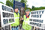 Killarney jarveys Jeremiah O'Shea and Dan Ferris who were part of the peaceful protest that was staged at the entrance to Muckross House on Tuesday after Killarney National Park blocked the jarveys from using the Park....