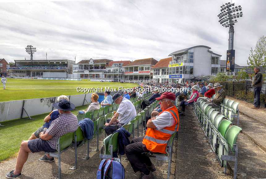 General view of the St Lawrence ground during the Specsavers County Championship Div 2 game between Kent and Sussex at the St Lawrence Ground, Canterbury, on May 11, 2018
