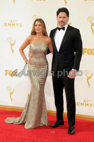 20 September 2015 - Los Angeles, California - Sofia Vergara, Joe Manganiello. 67th Annual Primetime Emmy Awards - Arrivals held at Microsoft Theater. Photo Credit: Byron Purvis/AdMedia