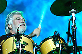 The Moody Blues - drummer Graham Edge - peforming live in concert at the Royal Albert Hall in  London -UK  05 Oct 2004.  Photo credit: George Chin/IconicPix