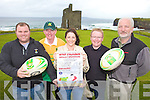 RECORD: Locals in Ballybunion who are a planning a Tag Rugby weekend and world record attempt next week, l-r: Derek Nagle, David Fitzmaurice, Una O'Connor, Greg Ryan, Jay Galvin.