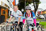 Sinead Stafford and Kathleen Reidy from Tralee Triathlon club Cyclists leaving for Cross Donal's Mountain Cycle at the Brandon Hotel on Sunday