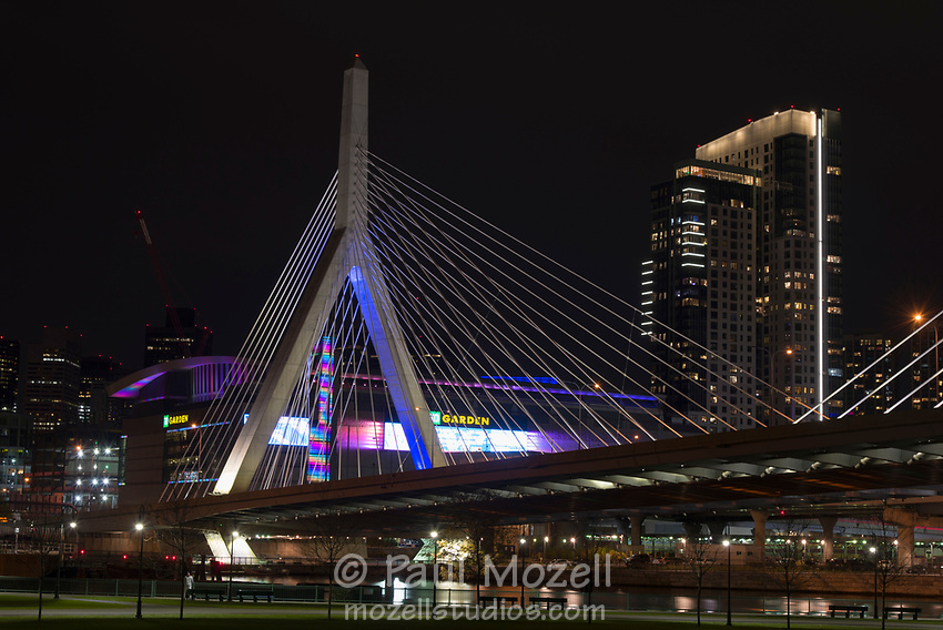 The Leonard P. Zakim Bunker Hill Memorial Bridge is a cable-stayed bridge across the Charles River in Boston, Massachusetts. It is a replacement for the Charlestown High Bridge, an older truss bridge constructed in the 1950s
