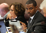 Nevada Senate Majority Leader Steven Horsford, D-North Las Vegas, works in committee on Tuesday, May 3, 2011, at the Legislature in Carson City, Nev. .Photo by Cathleen Allison