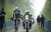 Stijn Vandenbergh (BEL/OPQS) coming through sector 18: Pavé de la Trouée d'Arenberg<br /> <br /> 2014 Paris-Roubaix reconnaissance