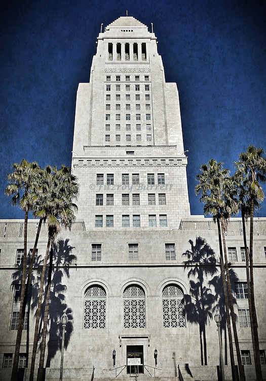 This photo of the Los Angeles City Hall building was taken on one of my photo walk about's on February 6, 2016. ©Fitzroy Barrett