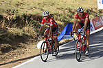 Matthias Brandle (AUT) and Kiel Reijnen (USA) Trek-Segafredo descend Sierra de la Alfaguara after Stage 4 of the La Vuelta 2018, running 162km from Velez-Malaga to Alfacar, Sierra de la Alfaguara, Andalucia, Spain. 28th August 2018.<br /> Picture: Eoin Clarke   Cyclefile<br /> <br /> <br /> All photos usage must carry mandatory copyright credit (&copy; Cyclefile   Eoin Clarke)