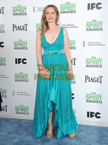 SANTA MONICA, CA, MARCH 01: Julie Delpy at The 2014 Film Independent Spirit Awards held at Santa Monica Beach in Santa Monica, California, USA on March 1st, 2014.                                                                              <br /> CAP/DVS<br /> &copy;Debbie VanStory/Capital Pictures