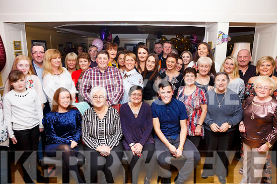 Theresa Roche, seated third from the right, from Tralee celebrates her birthday with her family and friends in the Brogue Inn on Saturday night last.