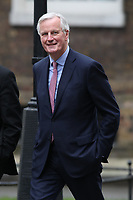 Michel Barnier arrives in Downing Street for Brexit talks.  London, England on February 05. 2018<br /> CAP/GOL<br /> &copy;GOL/Capital Pictures