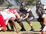 Palos Verdes, CA 10/24/14 - Daniel Schubert (Peninsula #18)in action during the Redondo Union - Palos Verdes Peninsula CIF Varsity football game at Peninsula High School.