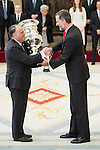 Javier Tebas and King Felipe VI of Spain attends to the National Sports Awards 2015 at El Pardo Palace in Madrid, Spain. January 23, 2017. (ALTERPHOTOS/BorjaB.Hojas)