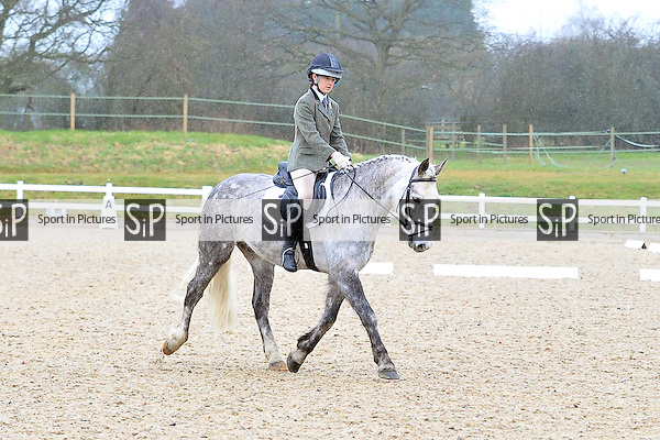 Class 5. Pony Club Dengie Winter Dressage Area Finals. Brook Farm Training Centre. Essex. 29/03/2015. MANDATORY Credit Ellie Ingram/Sportinpictures - NO UNAUTHORISED USE - 07837 394578