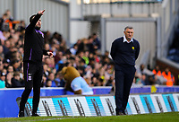 Stoke City manager Nathan Jones shouts instructions to his team from the technical area<br /> <br /> Photographer Alex Dodd/CameraSport<br /> <br /> The EFL Sky Bet Championship - Blackburn Rovers v Stoke City - Saturday 6th April 2019 - Ewood Park - Blackburn<br /> <br /> World Copyright © 2019 CameraSport. All rights reserved. 43 Linden Ave. Countesthorpe. Leicester. England. LE8 5PG - Tel: +44 (0) 116 277 4147 - admin@camerasport.com - www.camerasport.com