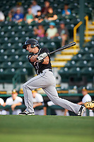 Jupiter Hammerheads shortstop Justin Bohn (13) at bat during a game against Bradenton Marauders on August 4, 2015 at McKechnie Field in Bradenton, Florida.  Jupiter defeated Bradenton 9-3.  (Mike Janes/Four Seam Images)