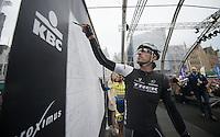 double Flanders Champion Fabian Cancellara (CHE/TrekFactoryRacing) signing in<br /> <br /> Ronde van Vlaanderen 2014