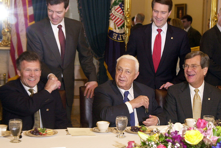 1Sharon031901 -- Israeli Prime Minister Ariel Sharon meets with Senate Leaders in the in the Capitol Tuesday afternoon.