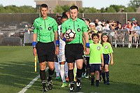 Piscataway, NJ - Saturday May 27, 2017: Players enter the field before a regular season National Women's Soccer League (NWSL) match between Sky Blue FC and the Orlando Pride at Yurcak Field.  Sky Blue FC defeated the Orlando Pride, 2-1.