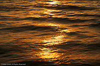 Sunset wave pattern on Gulf of Mexico, Naples, Florida