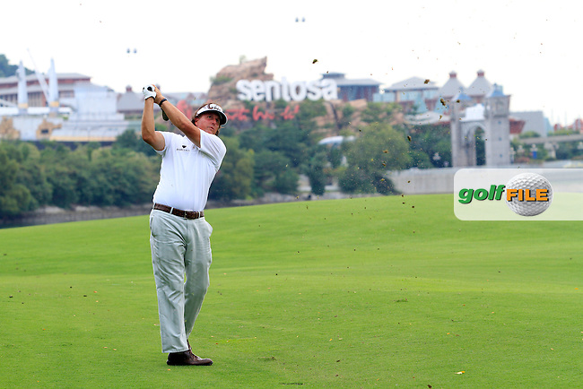 Phil Mickelson (USA) on the 15th during the continuation of Round 2 which was delayed due to storm warnings at the Barclays Singapore Open, Sentosa Golf Club, Singapore. 10/11/12..(Photo Jenny Matthews/www.golffile.ie)