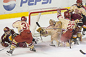 Matt Stefanishion, Julian Marcuzzi, Peter Mannino, Patrick Mullen (puck is by his right skate), Greg Rallo, Gabe Gauthier - The Ferris State Bulldogs defeated the University of Denver Pioneers 3-2 in the Denver Cup consolation game on Saturday, December 31, 2005, at Magness Arena in Denver, Colorado.